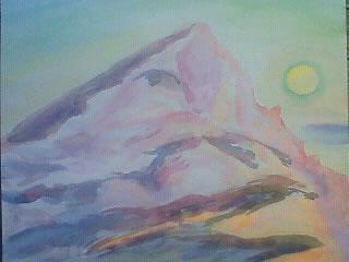 水彩画家・長尾周二作品・サントヴィクトワール山201004