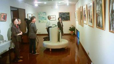 水彩画家・長尾周二・日仏秀作展・ちいさな美術館かじたにて写真