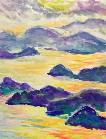 水彩画家・長尾周二180301