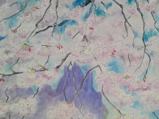 水彩画家・長尾周二・作品写真・ロワールの桜2