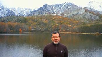 水彩画家・長尾周二・戸隠温泉にて陶芸家立石善規さんの写真