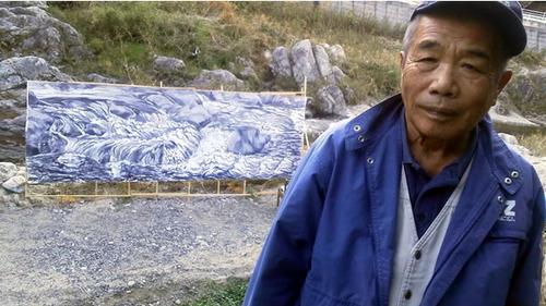水彩画家・長尾周二・渓流1611261