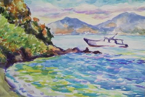 水彩画家・長尾周二150116