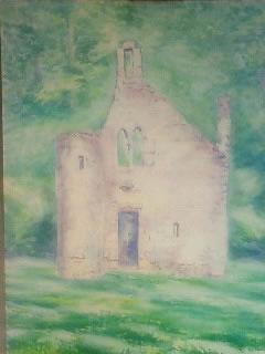 水彩画家・長尾周二作品・森の妖精の教会