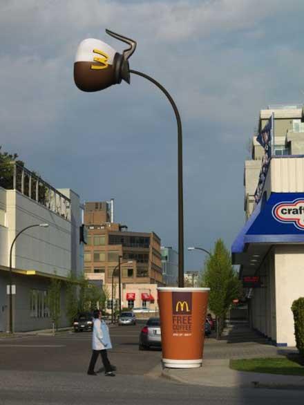 マクドナルド 街灯