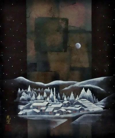 柳樂香里・月ー奥出雲たたら場の遠景