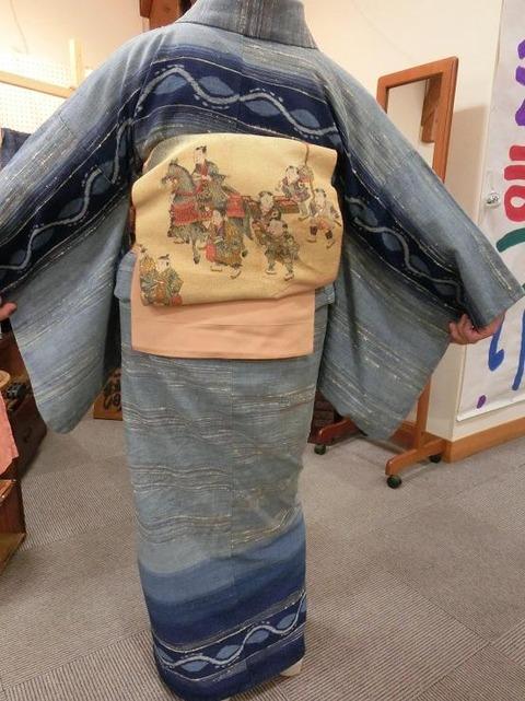 日本画家・柳樂晃里181216出雲織2