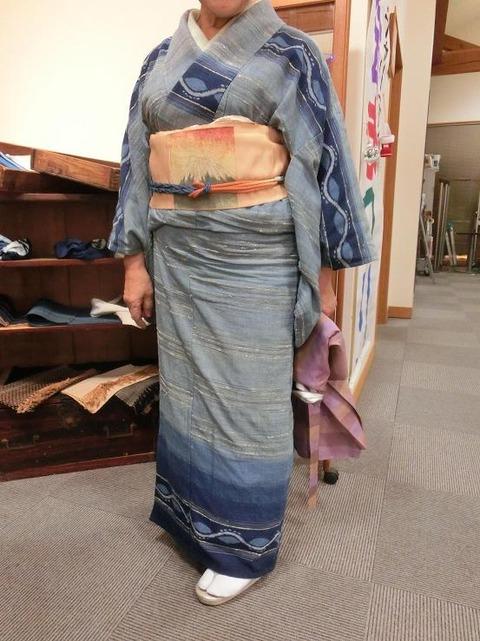 日本画家・柳樂晃里181216出雲織1b
