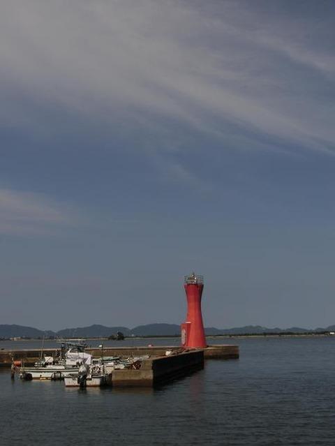 日本画家・柳樂晃里・安来港と十神山2