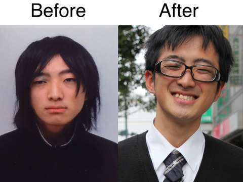 Before、after