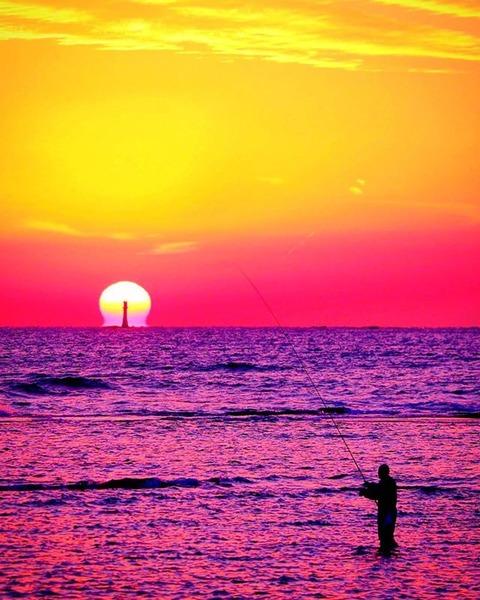 天神崎名物 幸運のだるま夕陽 pandasakura721