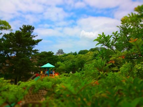 新緑に建つ和歌山城