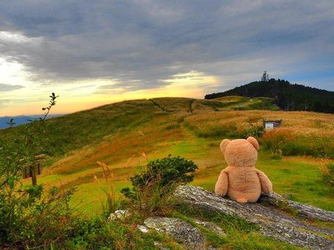生石高原での光景