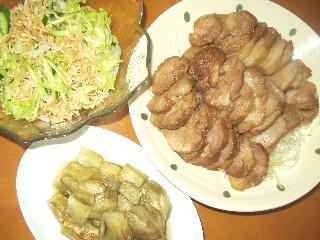 9/24煮豚の夕食