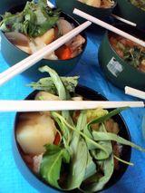 ササシマの炊き出しカレー(青菜つき)
