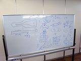 ムックリの設計図と、身近なアイヌ語の説明