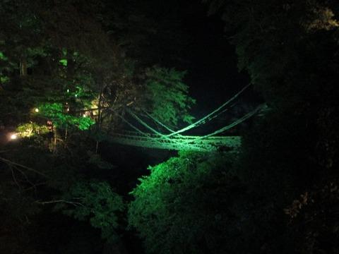 夜のかずら橋