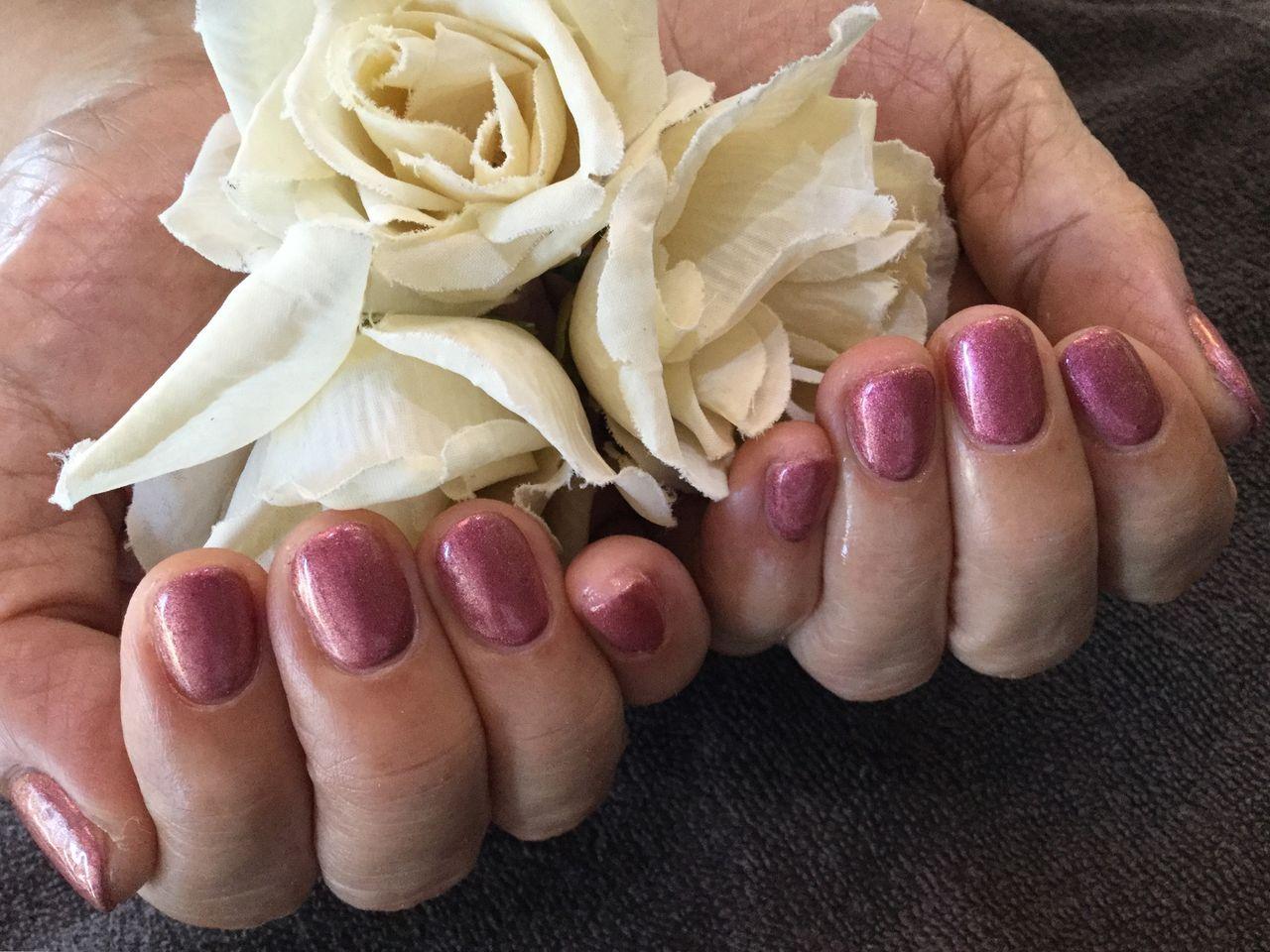 Nail Salon FreeStyleメタリックなローズ系カラーが綺麗な1色