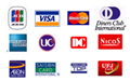 ネイルサロンJewelでは各種クレジットカードの利用が可能です