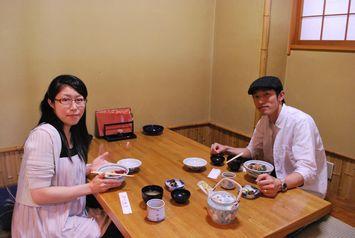 海鮮丼を食べに来て下さった相馬さんご夫婦