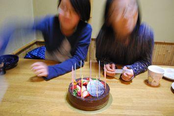 ひな祭りのチョコケーキ