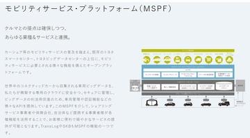 トヨタ・モビリティ・プラットフォーム概要図