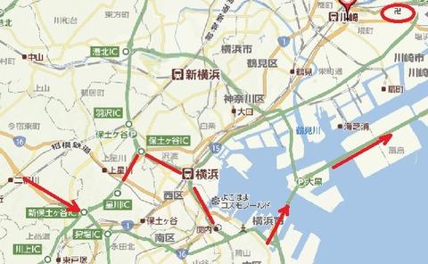 横浜から東扇島へ