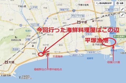 平塚海岸付近磯っぺの地図