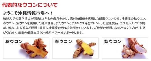 ウコンの健康食品題