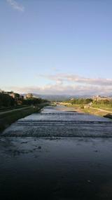 晴れの鴨川