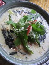 京野菜と島トーフのタイ風グリーンカレー