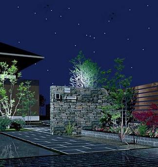 完成イメージ図「夜のエントランス」