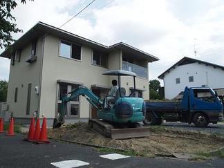 掘削工事開始です