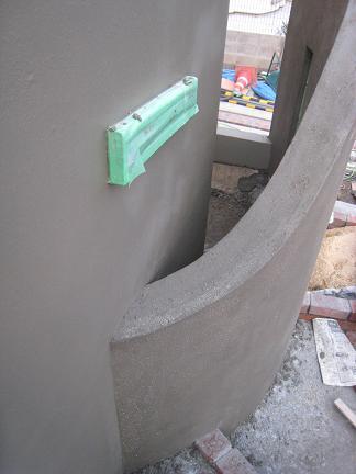 入り込む壁の造形