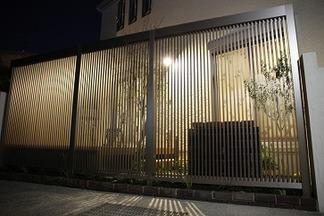 外構造園工事「夜の風景」