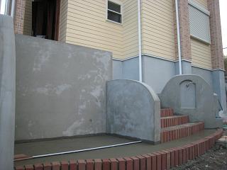 塗壁の下地完成