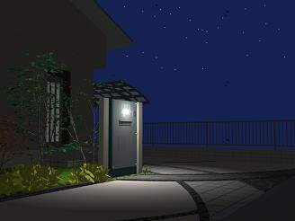 夜のアプローチ