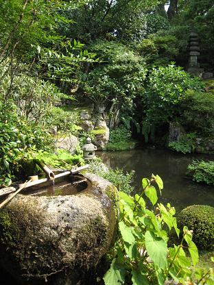 実光院の池庭