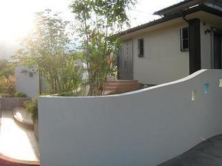 塗壁曲線の景色