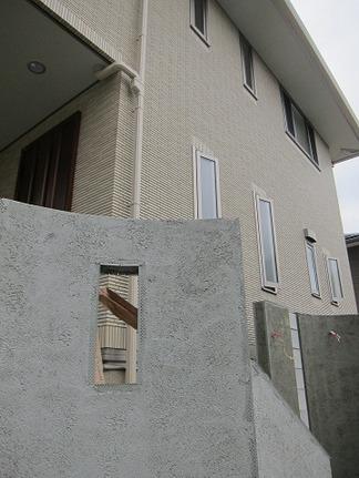 門柱周りの造型
