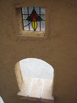 飾り窓とステンドグラス
