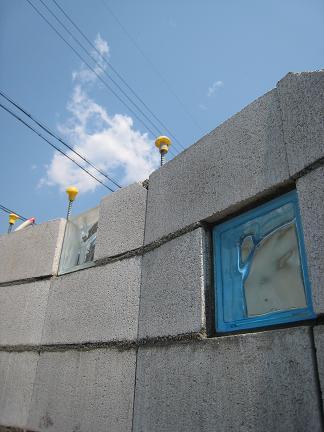 ガラスブロックの配置