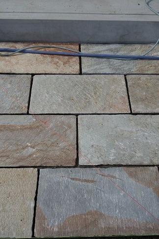 平板石敷き