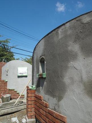 塗壁仕上げの壁面