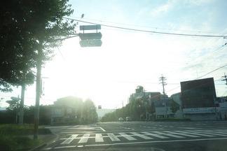 朝日昇る京都