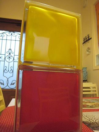 紅と黄色のコンビ
