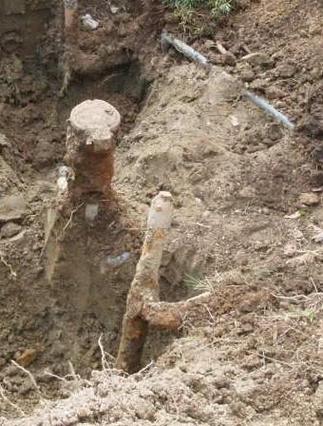 古いガス管