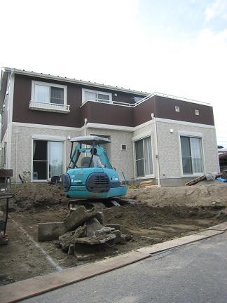 外構工事「掘削開始」