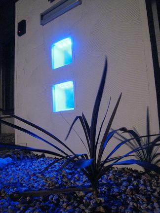 青く光るカクテルブロック