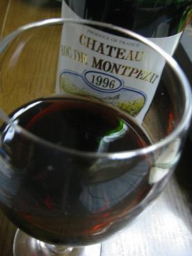 レンガ色のワイン